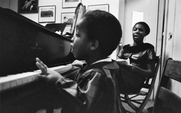 Nina Simone with daughter Lisa