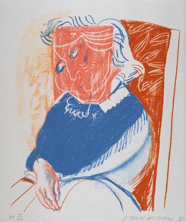 Portrait of Mother II 1985 by David Hockney born 1937