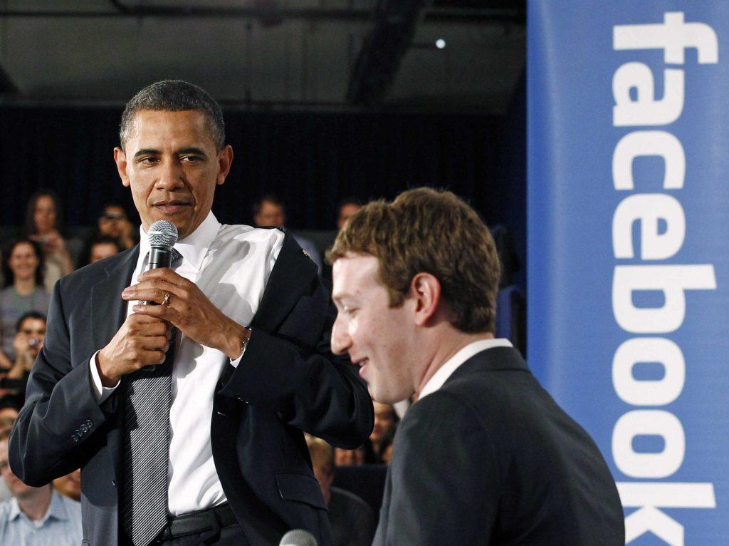 Obama and Mark Zuckerberg